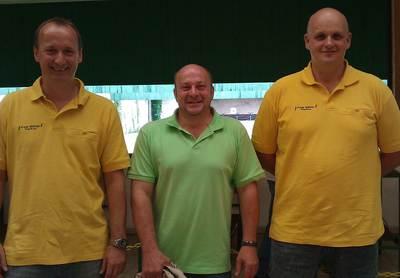 Die Mannschaft v.l. Jörg Bottler, Ralf Scheurer, Peter Dohn